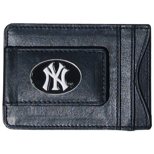 major-league-baseball-new-york-yankees-money-clip-card-holder-top-grain-leather-by-siskiyou