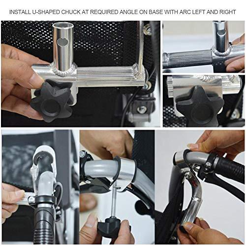 51gKArt2BoL - Juanya Almohada ajustable para reposacabezas de silla de ruedas con tubo de mango trasero, soporte para el cuello de 16 a 20 pulgadas, color negro