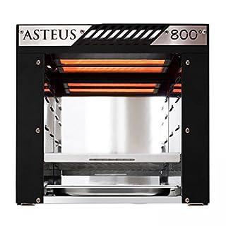 Asteus Willy Infrarot Elektro Grill, 800° Oberhitze, schwarz