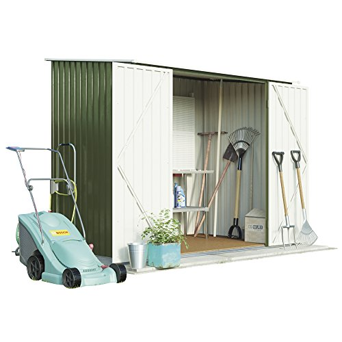 7ft-x-5ft-metal-pent-roof-outdoor-garden-storage-shed-by-waltons-light-green