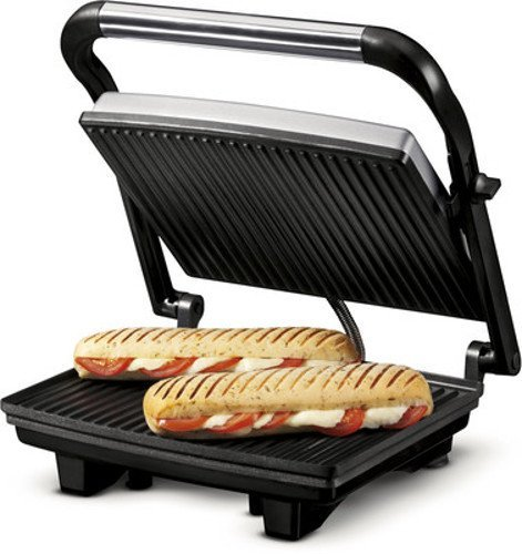 Nova NSG 2449 1000 Watt Panini Sandwich Grill Maker (Black/Grey)