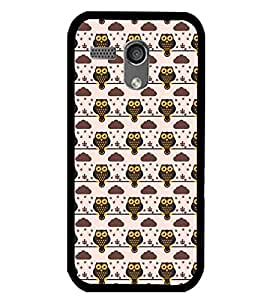 Printvisa Brown Owl Pattern Back Case Cover for Motorola Moto G X1032::Motorola Moto G (1st Gen)