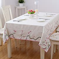 Broderie Rectangulaire Table basse Linge de lit en imitation Drap Ralph Lauren Nappe en tissu (Couleur : #1, taille : 140*140CM)