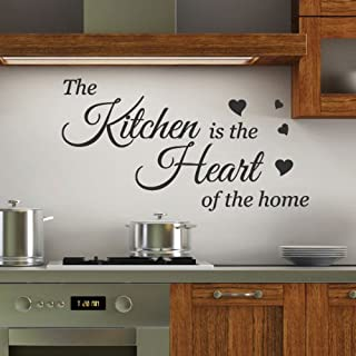 Kitchen is the Heart Wall Quotes Stickers Wall Decals Wall Arts Wall decoration
