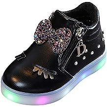 Zapatos De Bebé NiñO NiñA,ZARLLE Led Luz Luminosas Flash Zapatos Zapatillas De Deporte Zapatos