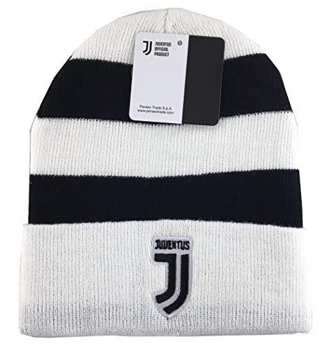 Juventus Turin Beanie, Mütze, Wintermütze schwarz/weiß gestreift Logo Logo Beanie-mütze