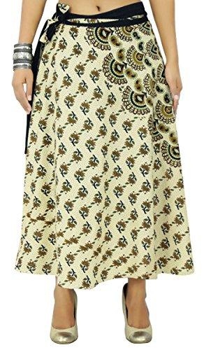 Magic Wrap Kleid (Baumwollrock Blumen Bedruckt Stoff Magic Wrap Lange umkehrbare Hippie)