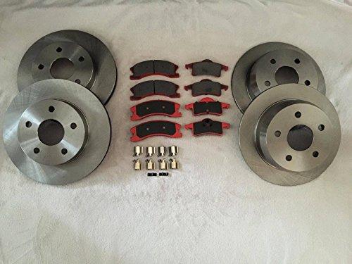 Raybestos Nty set completo di pastiglie e dischi freno posteriore e anteriore Jeep Grand Cherokee WJ 99-04Akebono