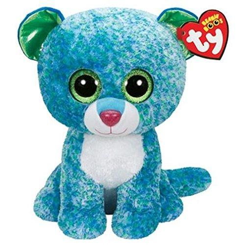 "Beanie Boo Leopard - Leona - Green/Blue - 42cm 16"""