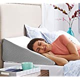 FITNESS INDIA™ Medical Memory Foam Wedge Pillow (20x18x11 Inch) Orthopedic Lumber Support Pregnancy Pillow, Relief from Acid