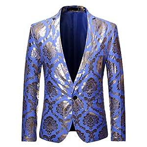 SIRIGOGO Herren Sakko Polyester klassisch Reverskragen Blazer EIN Knopf Jackett Anzug Slim Fit bequem