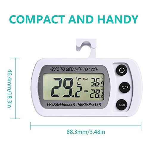 comprare on line NEXGADGET Termometro Digitale per Frigorifero Freezer Termometro Frigo con LCD Termometro Digitale Temperatura Monitor con Funzione di Temperatura Min Max. prezzo