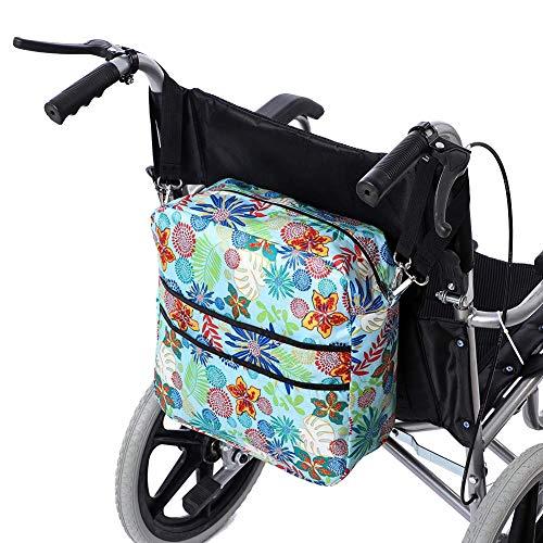 51gKEbVMcYL - GJB264 - Bolsa para silla de ruedas con bolsillos grandes, accesorio para caminar, bolsa de almacenamiento para la mayoría de los andadores plegables o enrolladores, para caminantes bariátricos