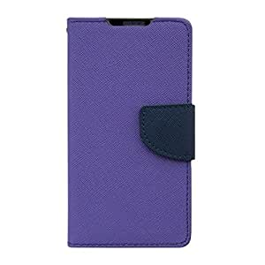 Acm Wallet Diary Flip Case For Htc Desire 816/816g Mobile Multi-Color Cover-Purple With Dark Blue Inside