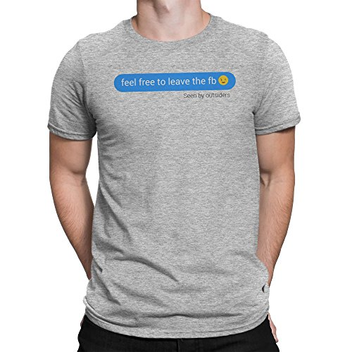 Feel Free To Leave Facebook Herren T-shirt S (Free Hugs Herren Baseball)