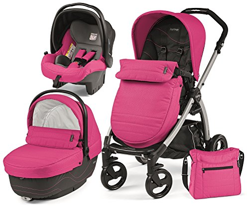 Kombikinderwagen [babyschale+kinderwagen+sportwagen] Book Pop Up Peg Pereg (BLOOM PINK GESTELL GREY)