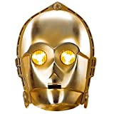 Amakando Máscara de Cartón | Antifaz C-3PO | Mascarilla Robot | Careta Star Wars