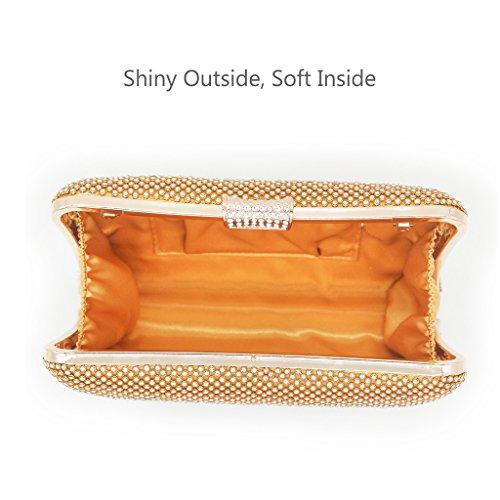 Artemis'Iris Brautbeutel-Abschlussball-Handtaschen-Diamant-Kissen-geformte Kupplungs-Geldbeutel-funkelnden für Frauen-formales Kleid Gold