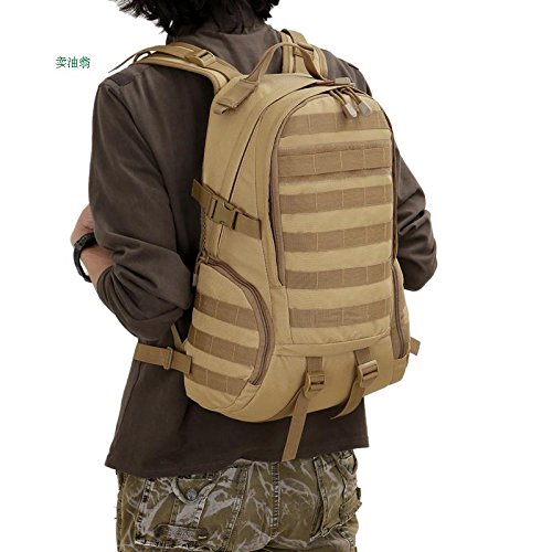 Multifunktionale outdoor militärische Tarnung Doppel Schulter Rucksack Mann reisen Bergsteigen Tasche 48 * 30 * 14 cm, Anzug Schwarz
