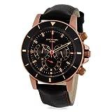 Brosway - MD16 - Montre Homme - Quartz - Chronographe - Bracelet Cuir Noir