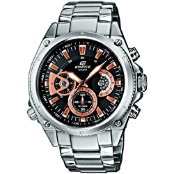 CASIO EF-536D-1AVEF Edifice - Reloj de cuarzo con correa de acero inoxidable para hombre, color plateado