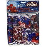 Spiderman 48 teilges Spiel und Geburtstagsset - 6 verschiedene Spielsachen zum Befüllen für 8 Partytüten