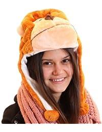 Brubaker Damen Tiermütze Plüsch Mütze mit Ohren