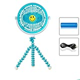 SSBY Mini-Aufladbare Usb-Kleine Fan 20Cm Tragbare Mobile Fan Große Windkraftanlagen Kreative Desktop-Fan Blau