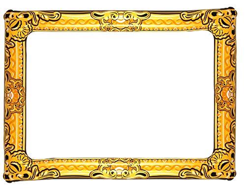 Henbrandt Aufblasbare Photo Frame Neuheit Großer Gold-Zusatz Fotokabine 60cm x 80cm