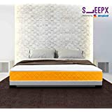 SleepX Presented by Sleepwell Apt High Resilience (HR) Foam Mattress - (78x72x6 Inches) with Free Pillows