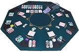 Faltbare Pokerauflage Poker Auflage Aufsatz Tischauflage 120 x 120 cm für 8 Personen