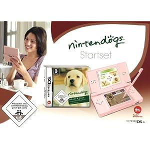 Nintendo DS Lite – Konsole, pink inkl. Nintendogs Labrador & Friends