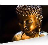 islandburner Bild Bilder auf Leinwand Buddha V6 1p XXL Poster Leinwandbild Wandbild Dekoartikel Wohnzimmer Marke