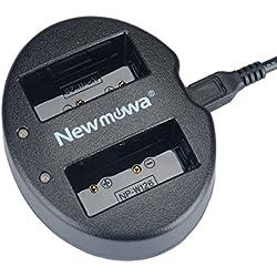Newmowa Double USB Chargeur pour Fujifilm NP-W126 NP-W126S Fujifilm FinePix X-Pro1 X-Pro2 HS30EXR HS33EXR HS35EXR HS50EXR X-A1 X-A2 X-E1 X-E2 X-M1 X-T1 X-T2 X-T10