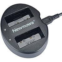 Newmowa USB Cargador Doble para Fujifilm NP-W126 NP-W126S Fujifilm FinePix X-Pro1 X-Pro2 HS30EXR HS33EXR HS35EXR HS50EXR X-A1 X-A2 X-E1 X-E2 X-M1 X-T1 X-T2 X-T10 X-H1