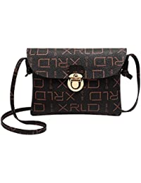 Women Embossing Print Shoulder Bag Crossbody Bag Messenger Bag Phone Bag Coin Bag (B)