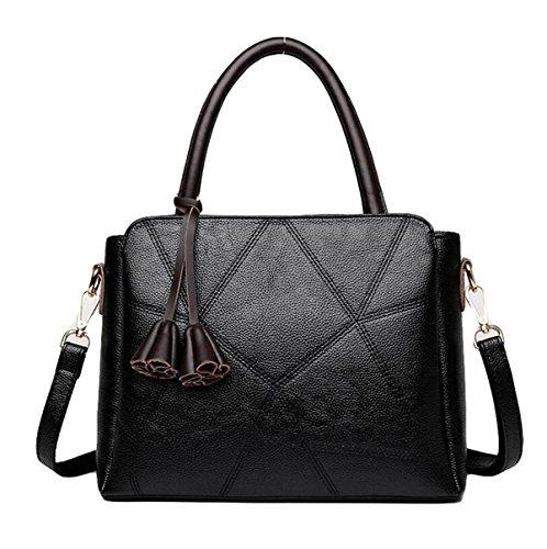 Handtaschen Mutter Tasche Schultertasche Messenger Tasche Mode Wilde Stich Handtasche Einfache Freizeit Black