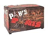 Sitztruhe gepolstert und klappbar Maße (B/T/H) in cm: 65 x 40 x 42 aus Kunstleder und MDF