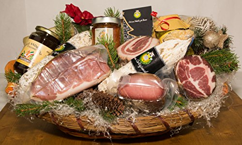 Cesti natalizi il natale in toscana 1 - salumificio artigianale gombitelli - cesti natalizi collezione 2017