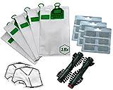 40pezzi sacchetto adatto per Vorwerk Folletto VK 140/1501818fragranza Blocks 2Filtro di protezione motore 1Coppia EB 360/370Spazzole di ricambio