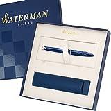 WATERMAN Füllfederhalter CARENE Blau C.C. 1904573 mit persönlicher Laser-Gravur mit großem Geschenk-Etui als Sonderedition