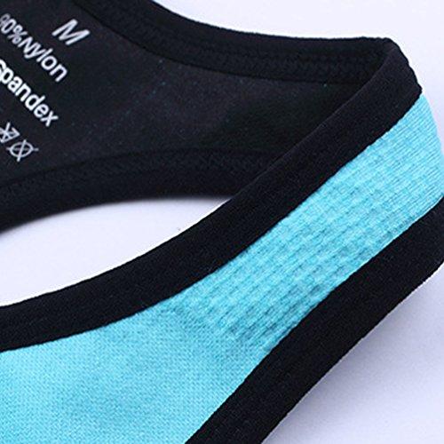 WanYang Femme Soutien Gorge Sport Brassière Yoga Gym Fitness Underwear Bra Jogging Bleu