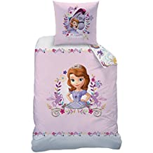 CTI 043207funda de edredón Disney princesa Sofia the First Kingdom 140x 200cm + funda de almohada de 63x 63cm 100% algodón azul
