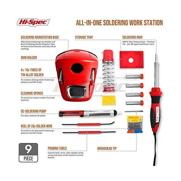 Hi-Spec Estación de Soldadura con Kit Completo para Soldar Chips, Placas,