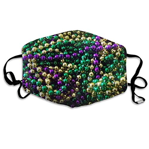 ske,Wiederverwendbar Anti Staub Schutzhülle,Beautiful Mardi Gras Beads Fashion Mouth-Masks Washable Safety 100% Polyester Comfortable Breathable Health Anti-Dust Half Face Masks ()