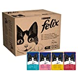 Felix Mixed Jelly and Gravy Cat Food Pouches, 120 x 100 g