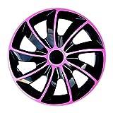 Radkappen / 4 x Universal Radzierblenden - QUAD rosa (14')