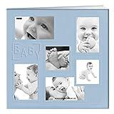 Pioneer Foto Alben Collage Rahmen genäht geprägt Cover Buchschraubenalbum Album 30,5x 30,5cm?Blau/Baby,