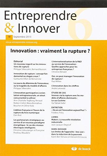 Entreprendre & Innover, N° 18 : par Collectif