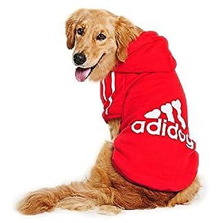 EASTLION Large Dog Warm Hoodies Coat Clothes Sweater Pet Puppy T Shirt,Black 4XL 7